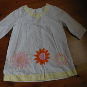 MINI BODEN 9-10 yr White 3/4 Slv Tunic Dress